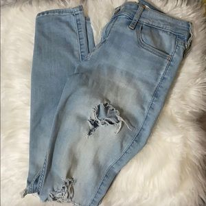 Hollister Co. Skinny Ripped Jeans